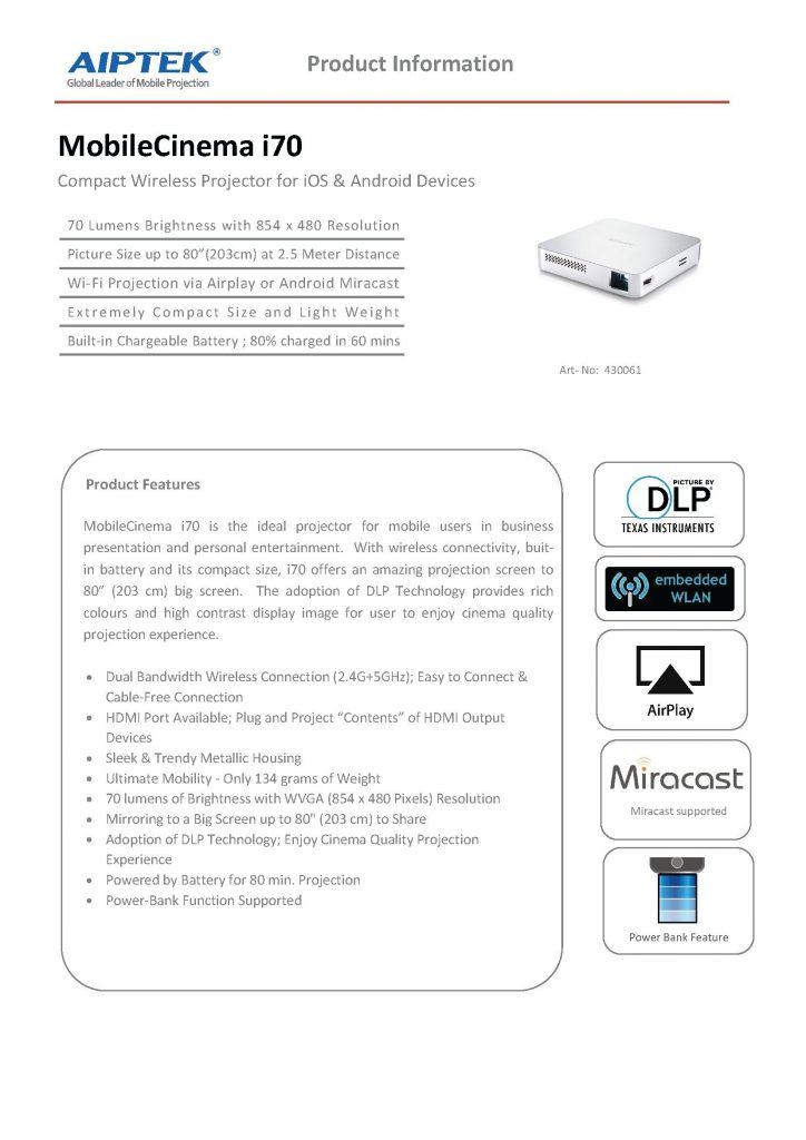 MobileCinema i70_Datasheet_EN_v2_US_Page_1