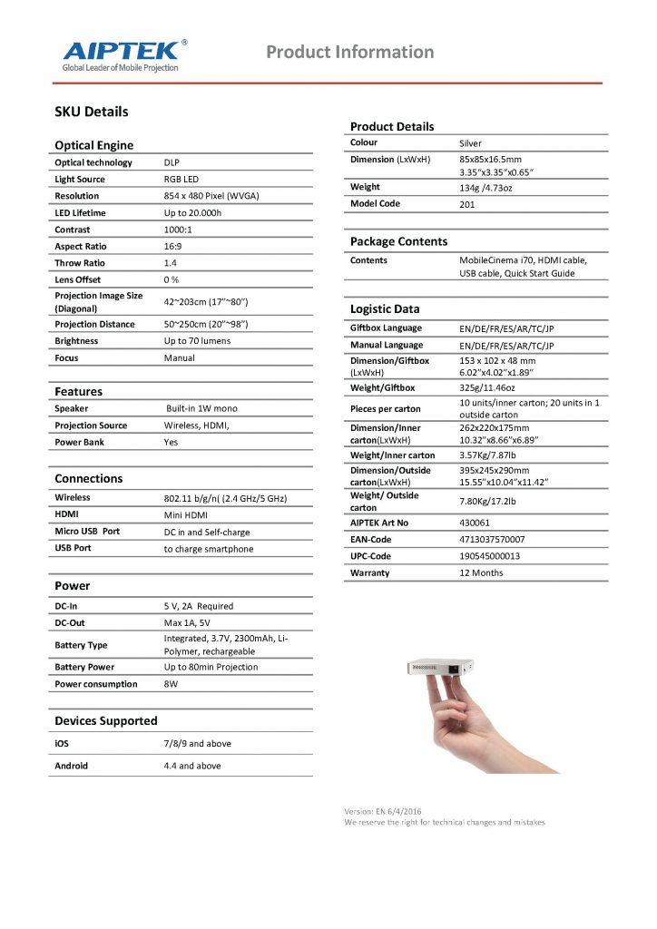 MobileCinema i70_Datasheet_EN_v2_US_Page_2