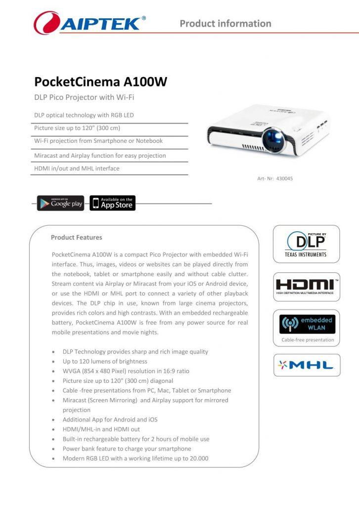 PocketCinema-A100W_Datasheet_Page_1